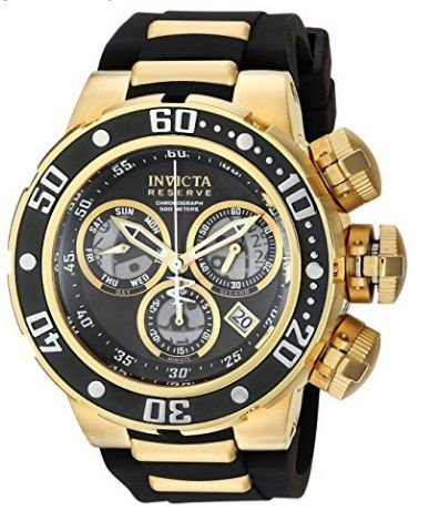 0a572e198d3 Relógio Invicta Men s  Reserve  Quartz Stainless Steel and Silicone Casual  Watch