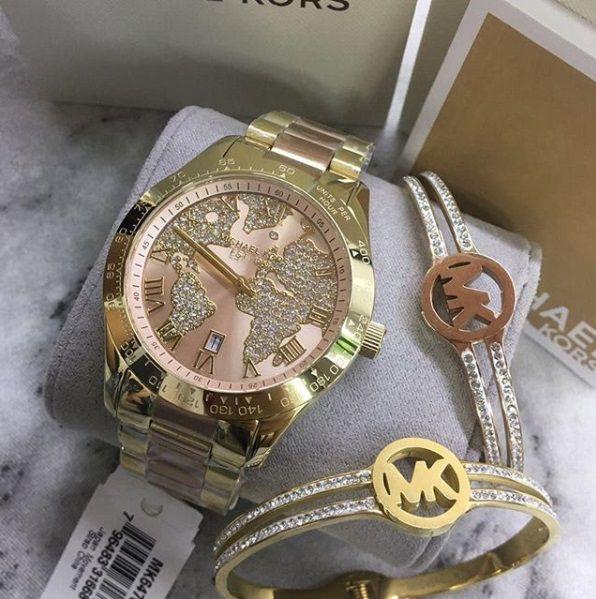 Relógios Michael Kors Feminino Runway Gold-Tone Watch MK - Lojas ... c08cfb7d9d