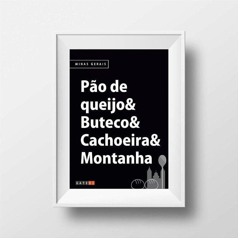 Poster Costumes Brasileiros - Minas Gerais - P&B