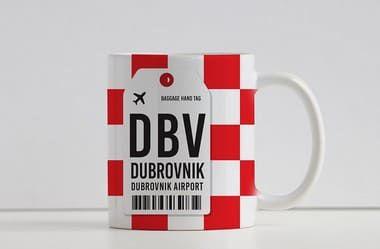 Caneca Aeroporto DBV,  Dubrovnik - Croácia