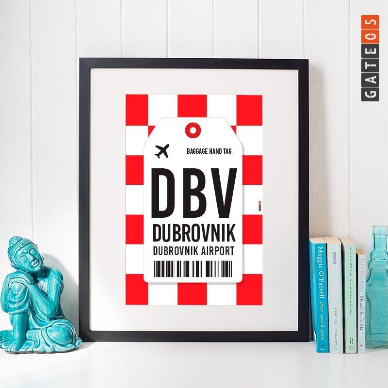 Poster Aeroporto DBV- Dubrovnik Airport - Cróacia
