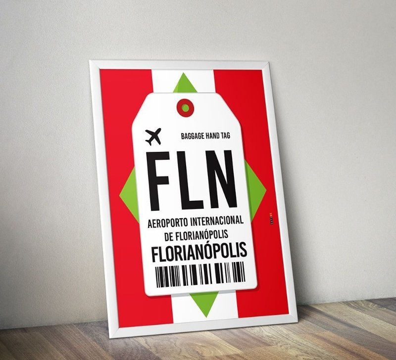 Pôster Aeroporto FLN- Florianópolis, Santa Catarina - Brasil