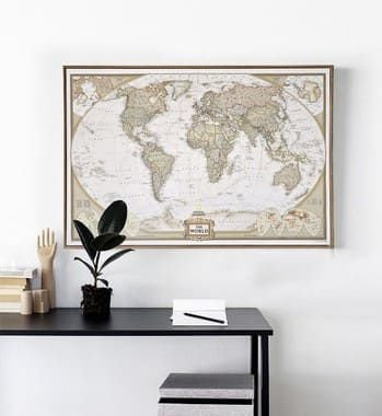 Mapa Mundi Vintage - The World