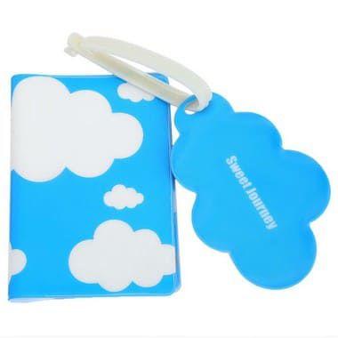 Porta Passaporte Viajando nas Nuvens