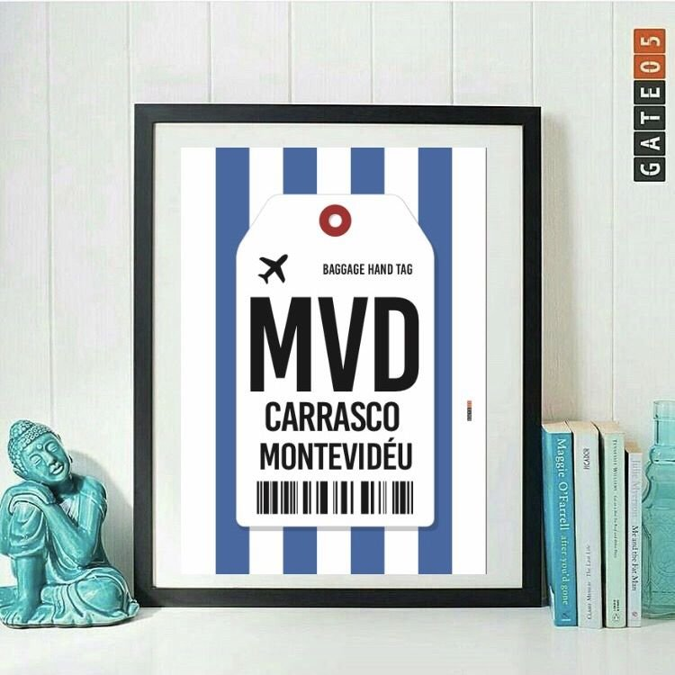 Poster Aeroporto MVD- Montevideu -Uruguai