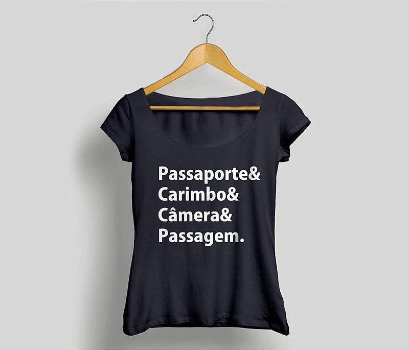 Camisa Feminina Viajantes Preta