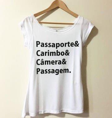 Camisa Feminina Viajantes Branca