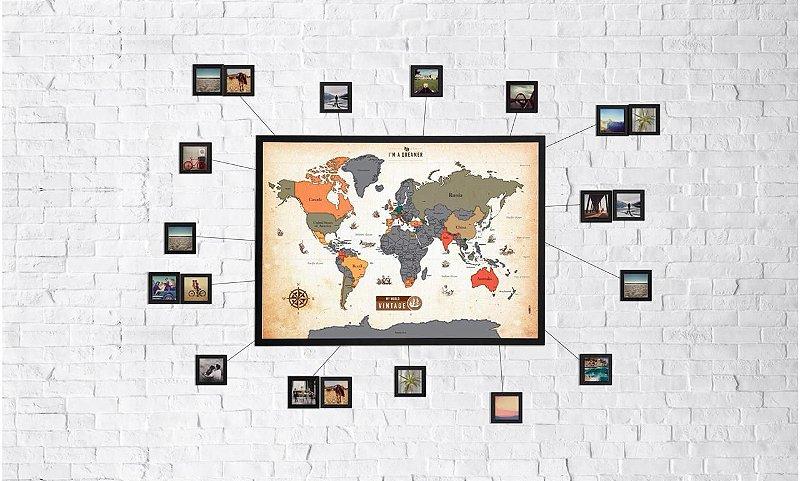 Mapa Raspadinha Vintage + 20 Molduras 10x10