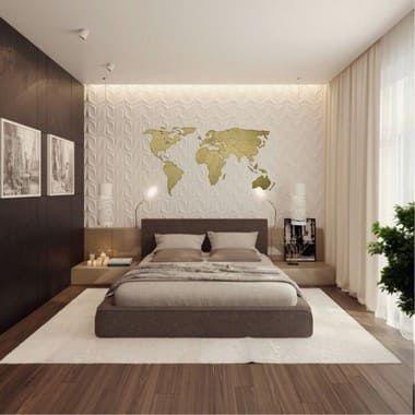 Mapa Mundo Fronteiras - Gold