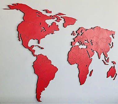 Mapa Mundi Fronteiras Rouge