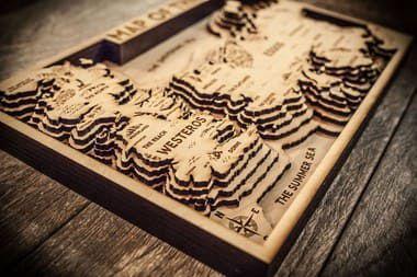 Mapa Game of Thrones - GOT 3D Cru