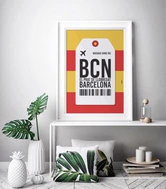 Poster Aeroporto Barcelona, Espanha - El Prat de LLobregat