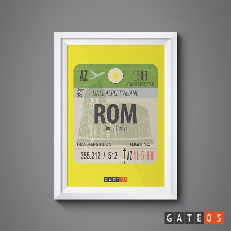 Pôster Tickets Worldwide - Roma, Itália