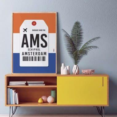 Pôster Aeroporto  Amsterdam - Schipol,  Holanda