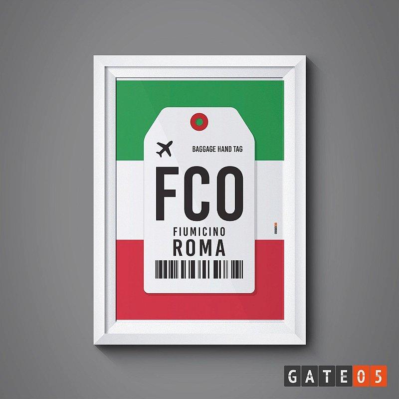 Pôster Aeroporto FCO - Roma, Itália - Fiumicino