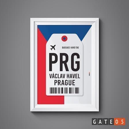 Pôster Aeroporto PRG - Praga, República Tchecha - Ruzyne
