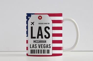 Caneca Aeroporto LAS, MCcaran  - Las Vegas , Estados Unidos