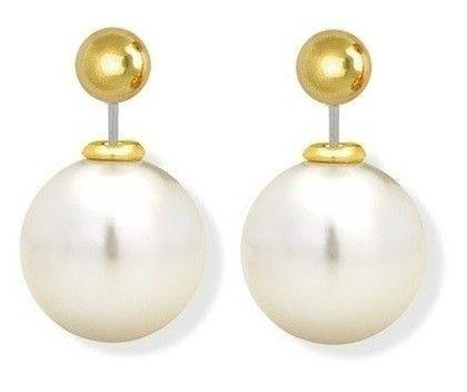 125102c080c Brinco Dior Inspired pérola dourada. Código  HPTBC2NTC. Brinco Dior Inspired  pérola dourada