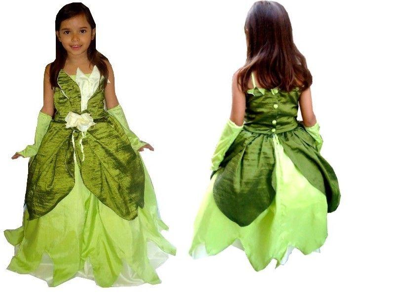 Vestido Princesa Tiana - A princesa e o Sapo