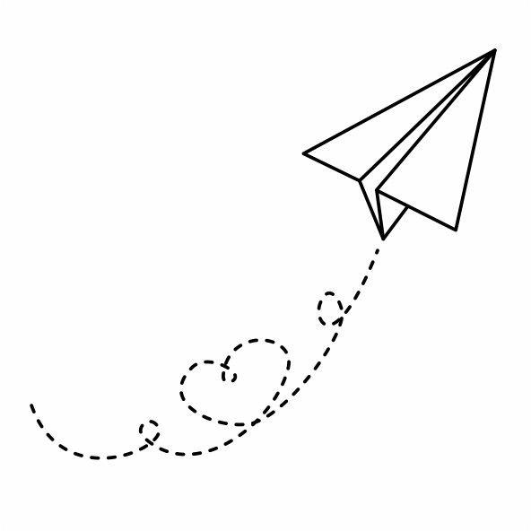 Tatuagem Aviãozinho De Papel