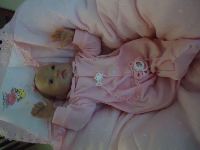 Bebê reborn Julia com olhos abertos