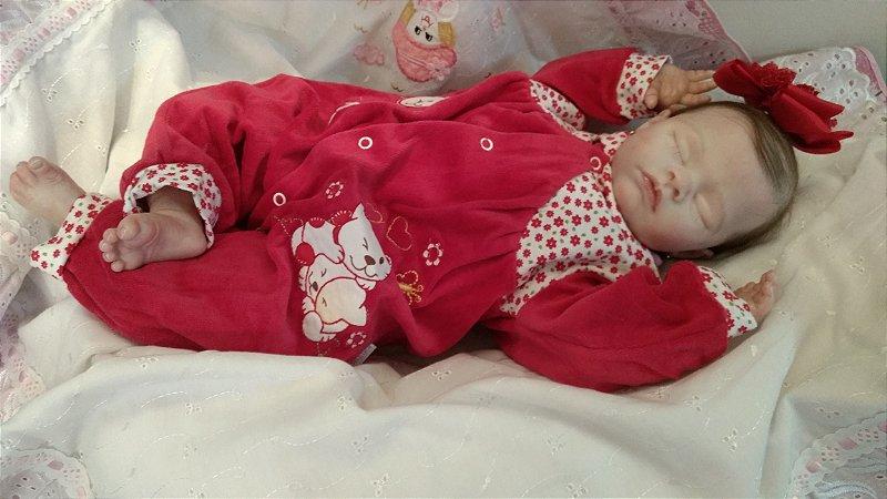 Linda bebezinha reborn com 54 cm e 2.1 kg aproximadamente