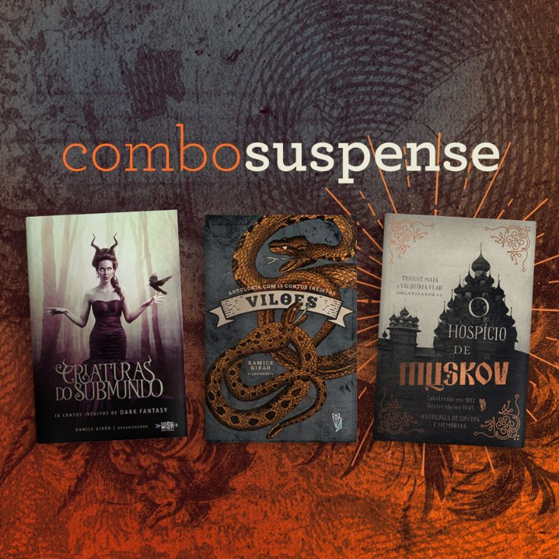 Combo Suspense, 3 livros promocionais até Outubro