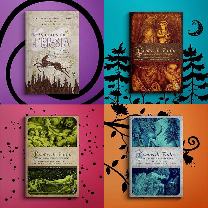 Pré-venda: As Cores da Floresta + Coleção contos de fadas originais