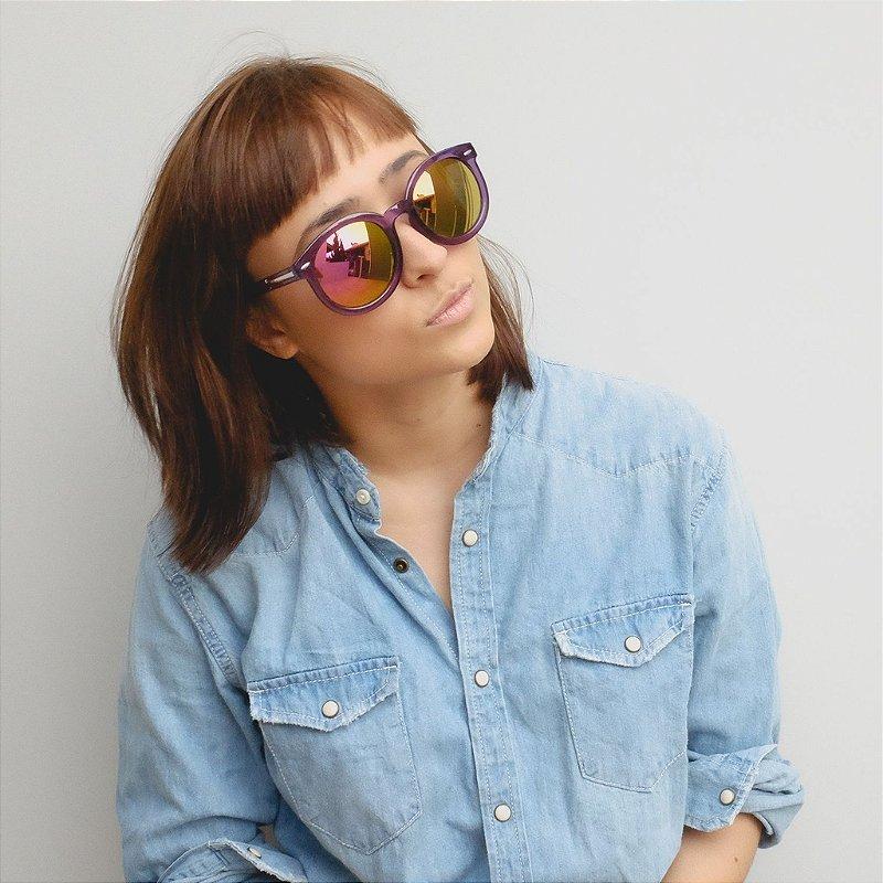 Óculos de Sol Zocla | Roxo Espelhado