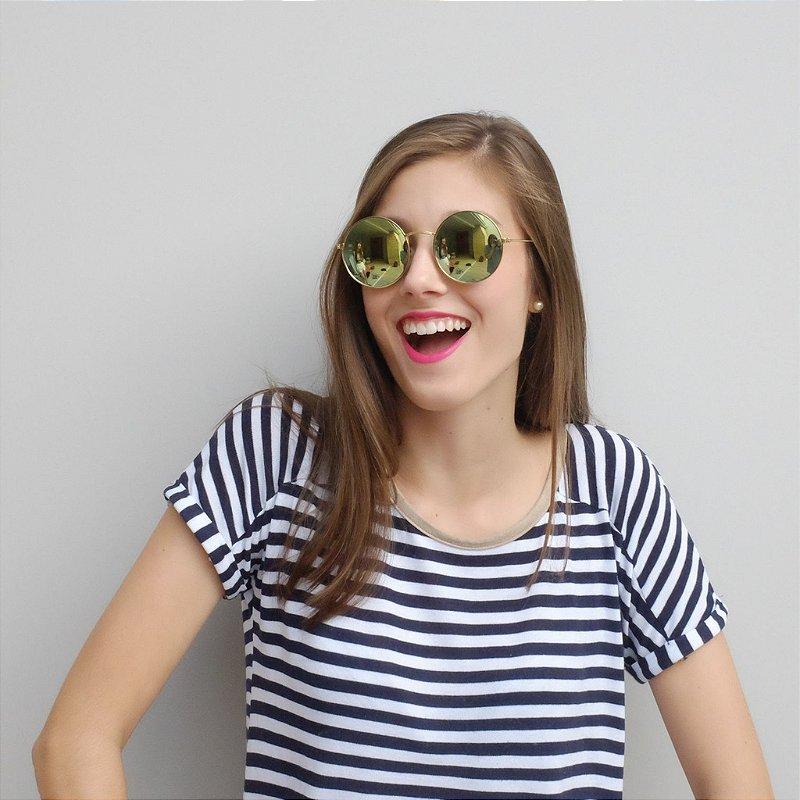 Óculos de Sol Zocla | Redondo Espelhado