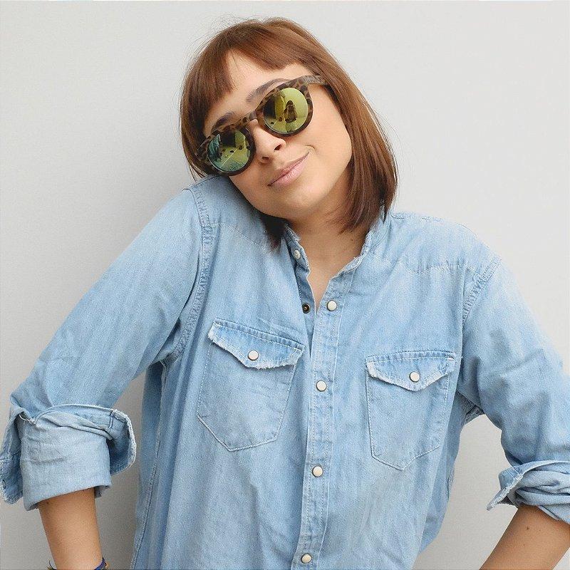 Óculos de Sol Zocla | Redondo Tartaruga