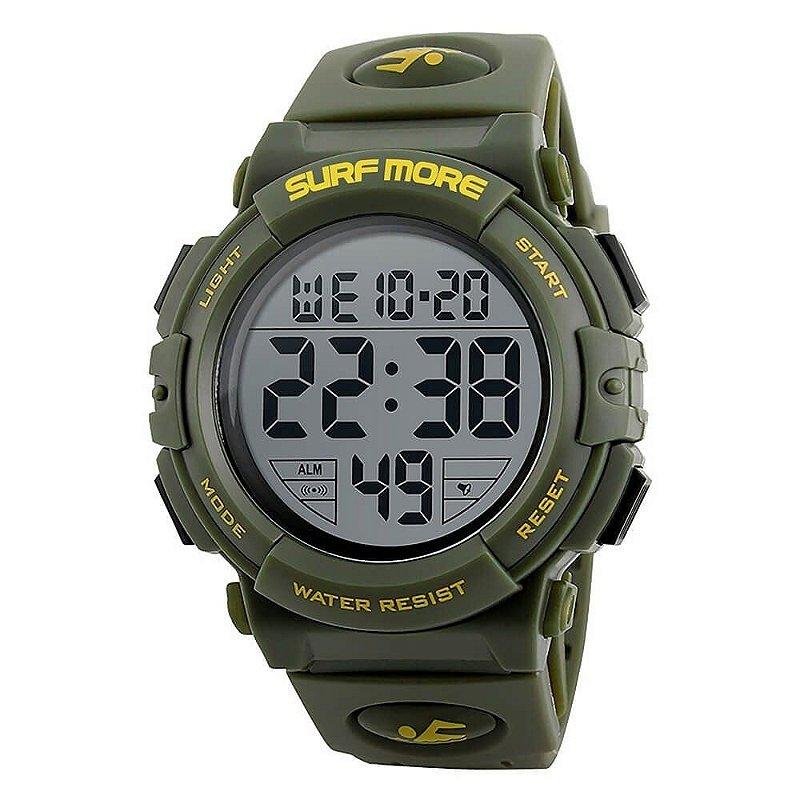 9356d68c6fa Relógio Surf More Masculino Digital 20003491M Verde - Atlantis Relógios