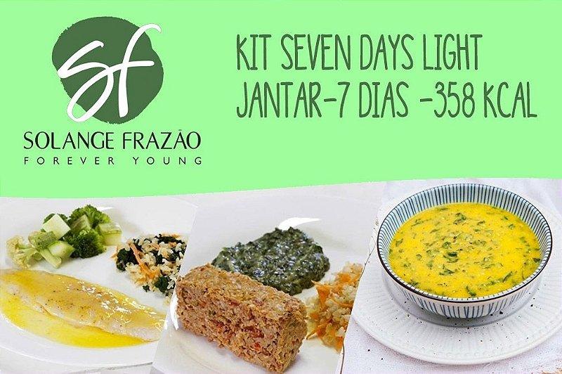 Kit Seven Days Light Jantar-7 dias - 358 Kcal