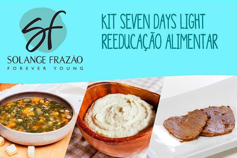 Kit Seven Days Light - Reeducação Alimentar- 2 dias Detox, 2 dias 800 Kcal e 3 dias 1000 Kcal
