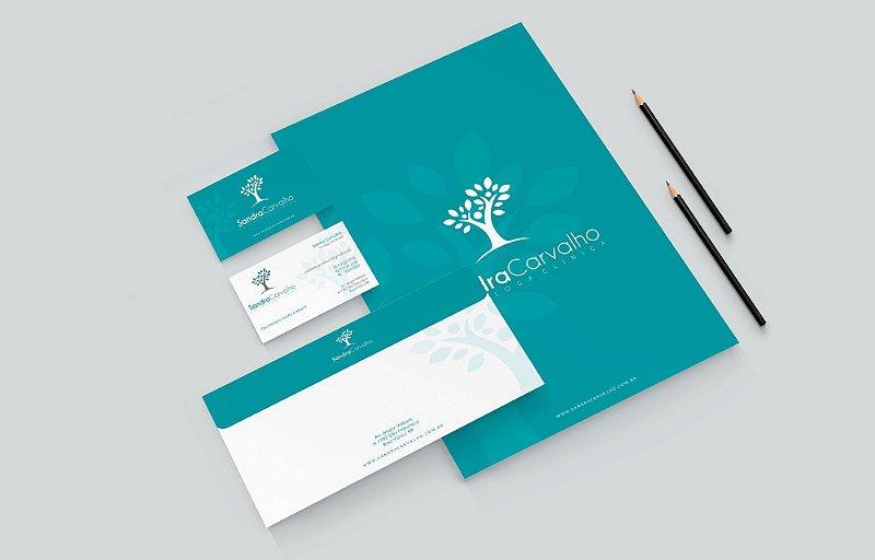 Logotipo, Cartao visita, Receituário e Capa Facebook