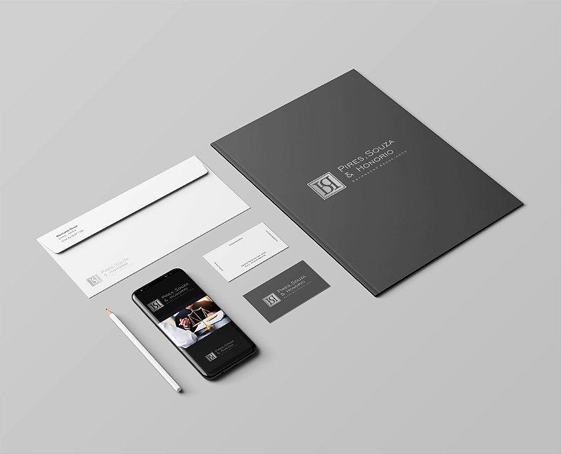 Logotipo, Cartão de Visita, Papel Timbrado, Envelope Carta, Receituário e Pasta