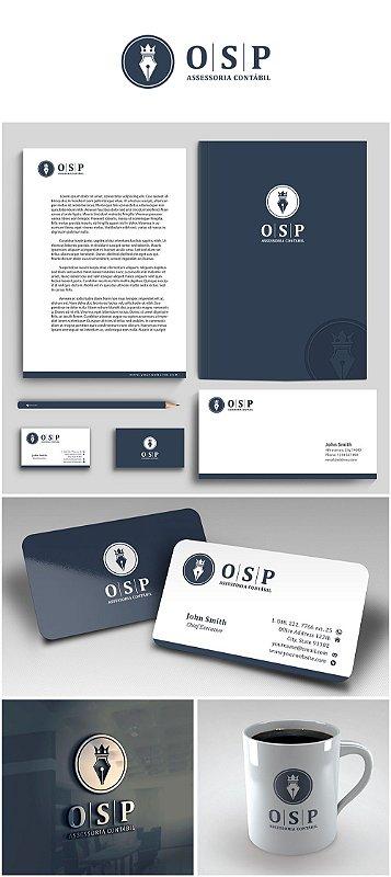 Logotipo, Cartão de Visitas, Pasta, Capa do Facebook, Site Corporativo e Assinatura de E-mail