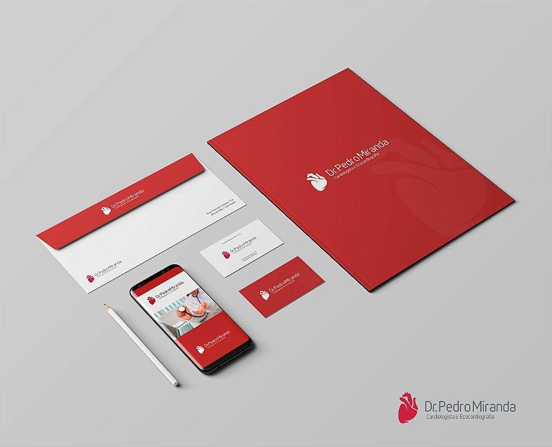Logotipo, Cartão de Visita, Papel Timbrado, Envelope Saco e Receituário
