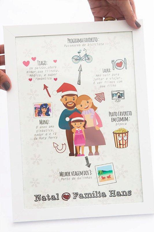 Quadro Homenagem Friends/Family