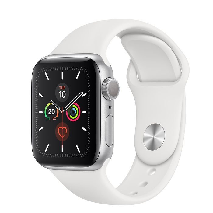 Novo Relógio Apple Watch Série 5 Alumínio Pulseira Sport 44mm Silver Prata mwt32bz/a Gps mwt32 Prateado