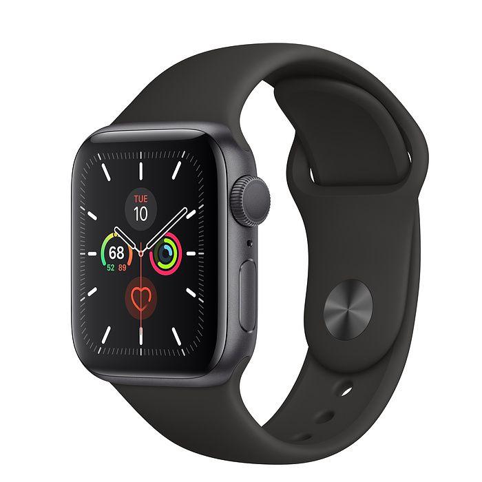 Novo Relógio Apple Watch Série 5 Alumínio Pulseira Sport 44mm Cinza espacial Preto mwt52bz/a Gps mwt52 space gray