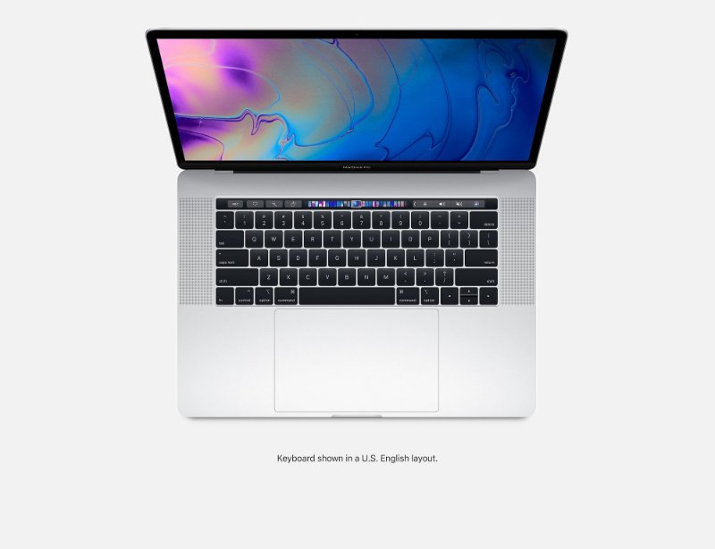 NOTEBOOK APPLE MACBOOK PRO MR972BZ/A I7 2.6 GHZ 16GB 512GB TOUCH BAR MID 2018 SILVER PRATA MR972 ( PRATEADO )