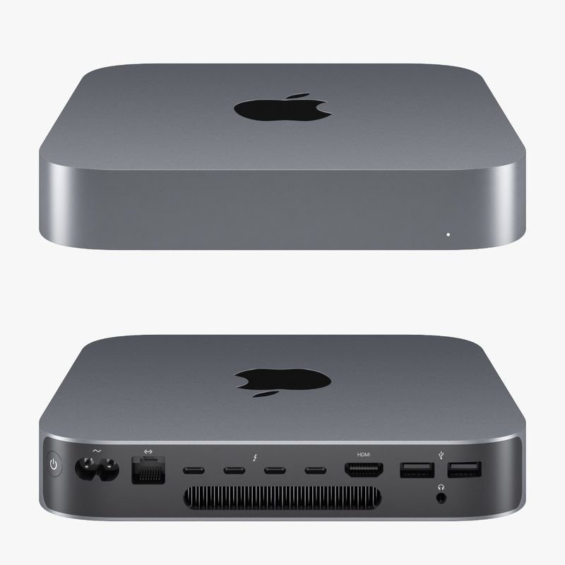Apple Mac Mini MRTR2 2018 Space Gray i3 3.6 Ghz, 8gb, 128 ssd cinza