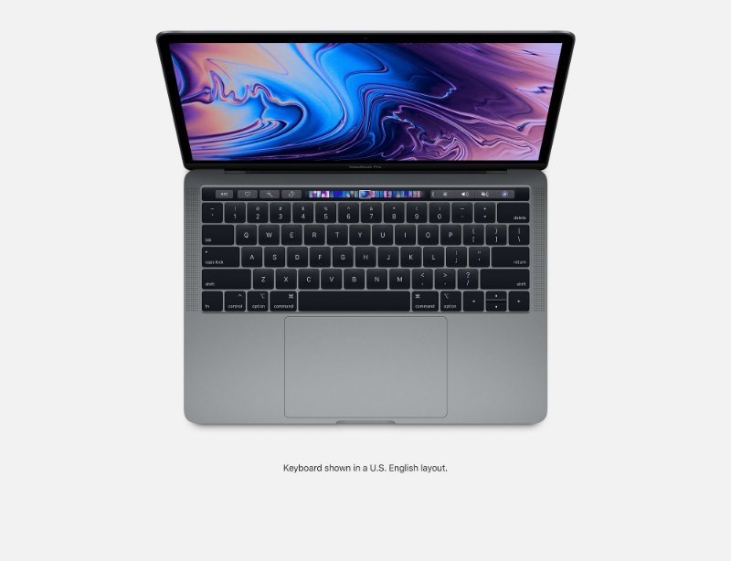 Apple Novo Macbook Pro Touch Bar 13 2019 MV972BZ/A I5 2.4 ghz 8gb 512 ssd  Cinza Espacial / Space Gray MV972