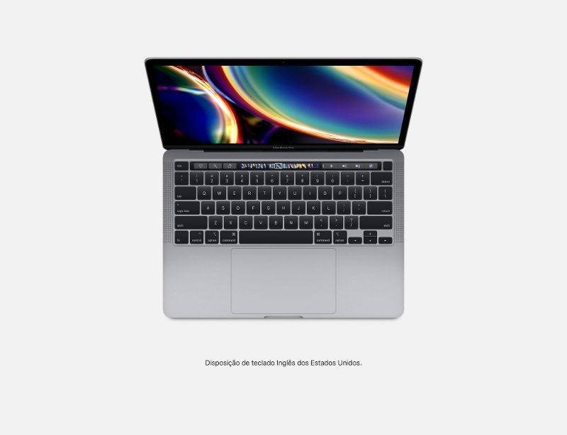 Apple Novo Macbook Pro Touch Bar 13 2020 MXK52BZ/A I5 1.4 ghz 8gb 512GB ssd Cinza Espacial / Space Gray MXK52