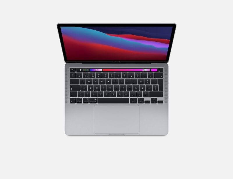 Apple Macbook Pro 13 M1 8gb 256gb Ssd Space Gray Cinza 2020 2021 A2338 MYD82BZ/A MYD82LL/A MYD82