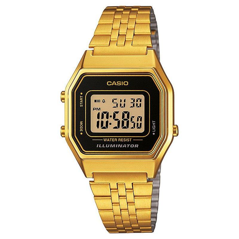 7d5bb2b35a0 Relógio Casio Vintage LA680WGA-1DF Preto Dourado - Radical Place - Loja  Virtual de Produtos Esportivos