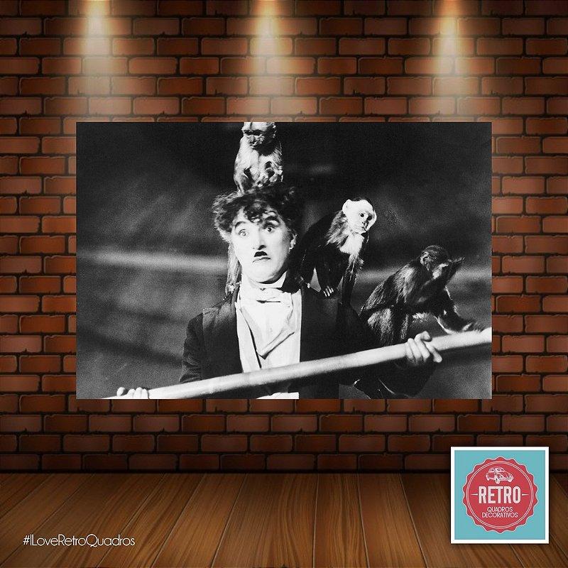 Quadro Charles Chaplin e Macacos