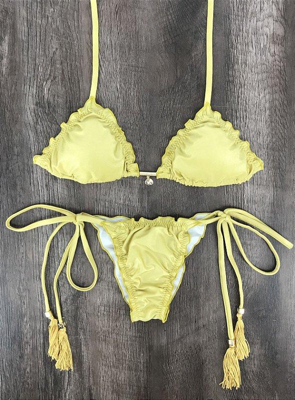 98692e710e6d Top Frufru e Tanga Ripple Dourado - Camila Alves Beachwear