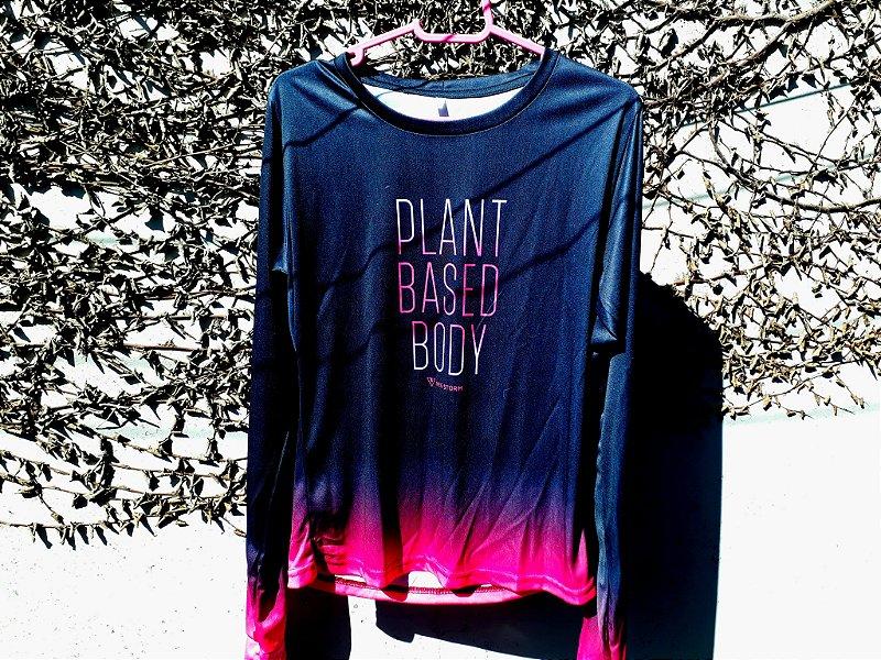 Camiseta manga longa corta vento Plant based feminina dry fit